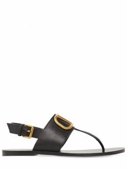 10mm Vlogo Leather Thong Sandals Valentino 71IAG2009-ME5P0