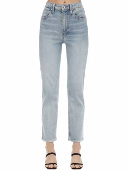 Straight Leg Cotton Blend Denim Jeans Alexander Wang 71I5BR063-NDQ50