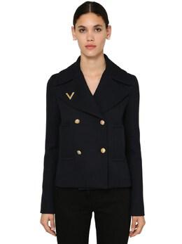 Двубортное Пальто Из Шерсти Valentino 71I52O064-NTk40