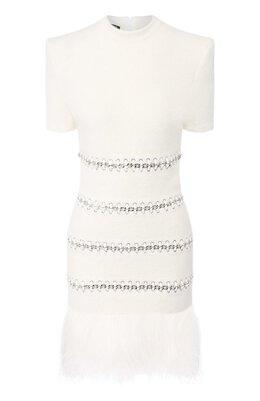 Шерстяное платье Balmain SF06213/K536