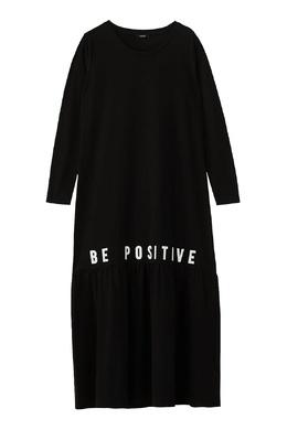 Черное длинное платье с надписью Liu Jo 1776168488