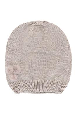 Вязаная шапка с декором из меха Liu Jo 1776168167