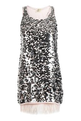 Платье с пайетками и перьями Liu Jo 1776168407