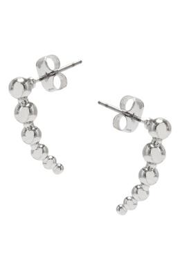 Короткие серебристые серьги-дорожки Lisa Smith 1168166050