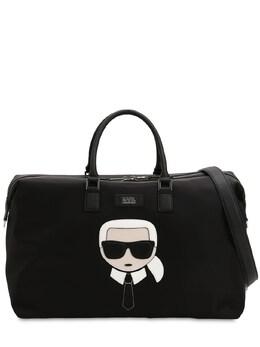 K/ikonik Patch Nylon Weekender Bag Karl Lagerfeld 71IXFS027-QTk5OQ2