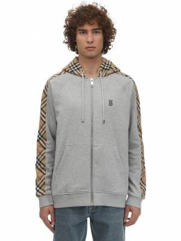 Zip-up Cotton Jersey Sweatshirt Hoodie Burberry 71IJSJ008-QTIxNDI1