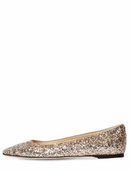 10mm Mirele Glittered Flats Jimmy Choo 71ID0Z014-R09MRElF0
