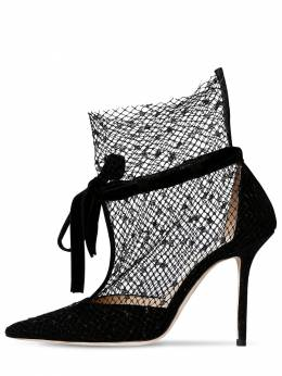 100mm Fira Mesh & Suede Pumps Jimmy Choo 71ID0Z012-QkxBQ0s1