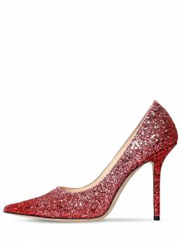 100mm Love Glittered Pumps Jimmy Choo 71ID0Z006-QlVCQkxFIFJFRA2