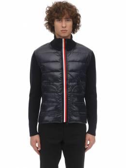 Tricot Knit Down Jacket Moncler 70I3EU087-NzQy0