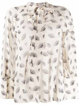 Luisa Cerano pussybow embroidered blouse 2181762415