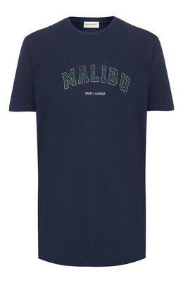 Хлопковая футболка Saint Laurent 603280/YBPX2