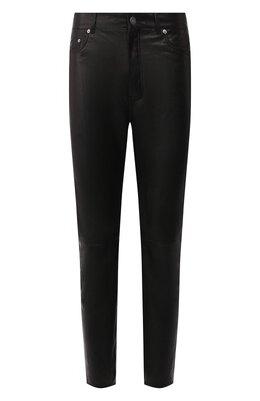 Кожаные брюки Saint Laurent 605147/YC2MA