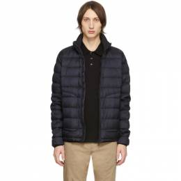 Moncler Navy Down Garment-Dyed Octavien Jacket 201111M17800805GB