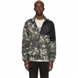 Marcelo Burlon County Of Milan Beige and Green Camo Windbreaker Jacket 201539M18003406GB