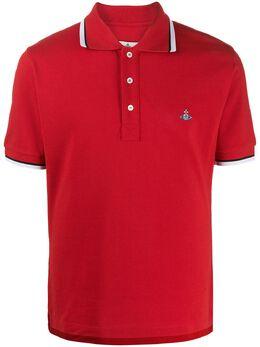 Vivienne Westwood рубашка-поло с отделкой в полоску S25GL0047S23142