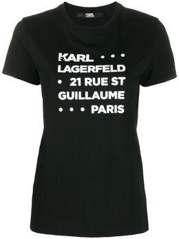 Karl Lagerfeld футболка с логотипом 201W1715999