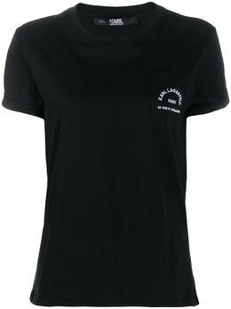 Karl Lagerfeld футболка с принтом на кармане 201W1703999