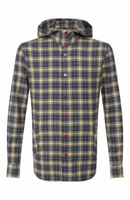 Хлопковая рубашка Kiton UMCMARH0707744