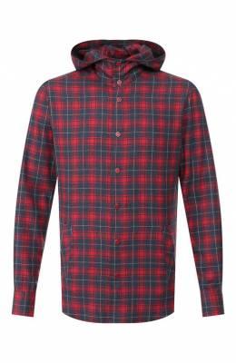 Хлопковая рубашка Kiton UMCMARH0707745