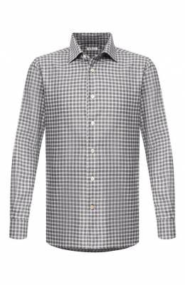 Хлопковая рубашка Kiton UMCNERH0563505