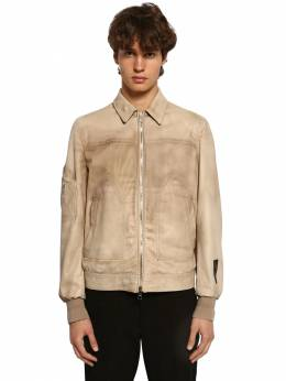 Zip-up Leather Aviator Jacket Neil Barrett 71ILBI028-MTc00