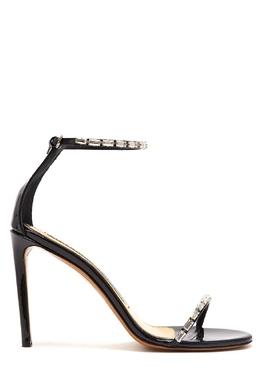 Черные кожаные босоножки с кристаллами Carla Alexandre Vauthier 356168568