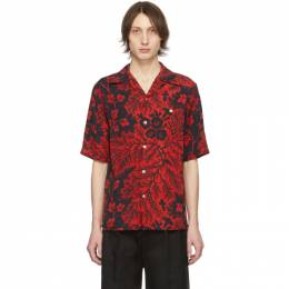 Alexander McQueen Black and Red Creeper Bowling Shirt 599237QOR63