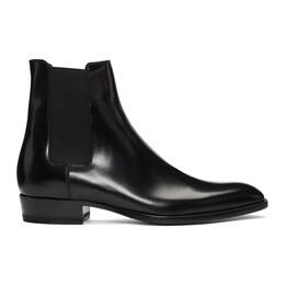 Saint Laurent Black Wyatt Chelsea Boots 443208 AQS00