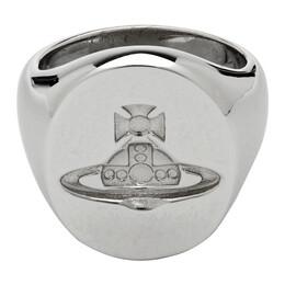 Vivienne Westwood Silver Seal Ring 192314M14700906GB