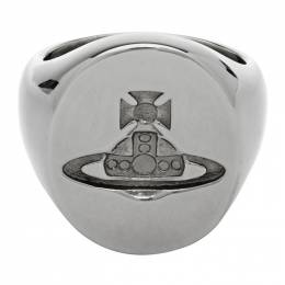 Vivienne Westwood Gunmetal Seal Ring 192314M14700806GB