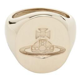 Vivienne Westwood Gold Seal Ring 192314M14700702GB