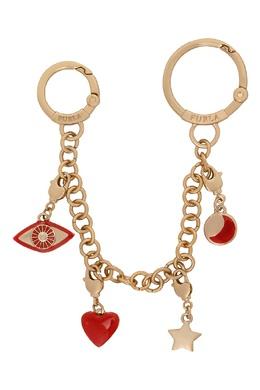 Золотистый брелок Zaffiro с красной эмалью Furla 1962169735