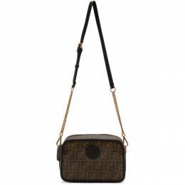 Fendi Brown and Black Forever Fendi Camera Case Bag 8BT287 A6VO