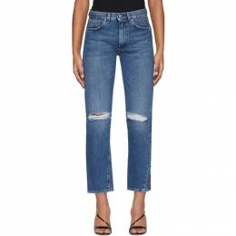 Toteme Blue Ripped Original Jeans 195-232-740