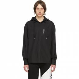 Neil Barrett Black Hooded Shirt PBCM 1309C N057C