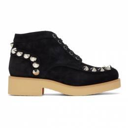 Christian Louboutin Black Yannick Flat Boots 1181030