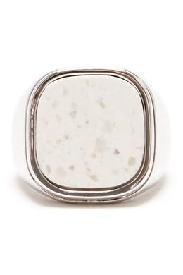 Кольцо-печатка с серебрением и белым камнем Lisa Smith 1168170109