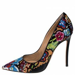 Dsquared2 Floral Print Fabric Pointed Toe Pumps Size 38 251615