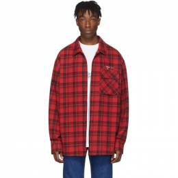 Off-White Red Flannel Check Shirt OMGA098R20G710212001