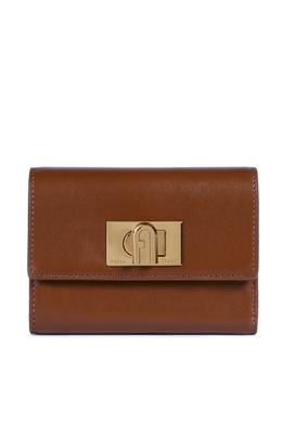 Кожаный кошелек 1927 коричневого цвета Furla 1962169613