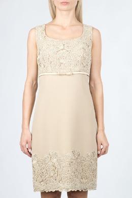 Шелковое платье с кружевом Luisa Spagnoli 3090170828