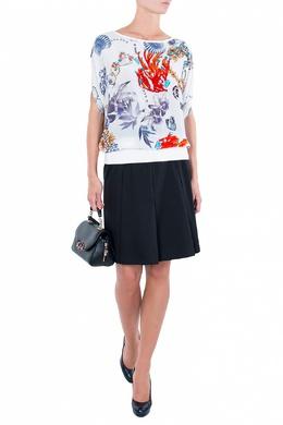 Черная юбка с крупными складками Luisa Spagnoli 3090170811