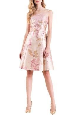 Платье с сеткой и кружевом Luisa Spagnoli 3090170742