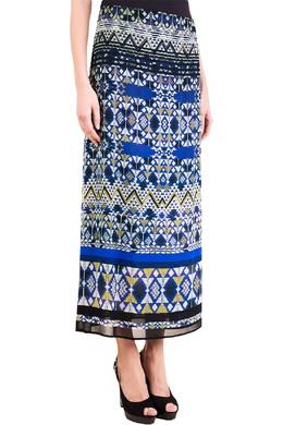 Синяя юбка с прозрачной вставкой Luisa Spagnoli 3090170785