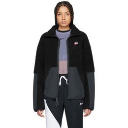 Nike Black Sherpa Fleece Jacket BV3720-010