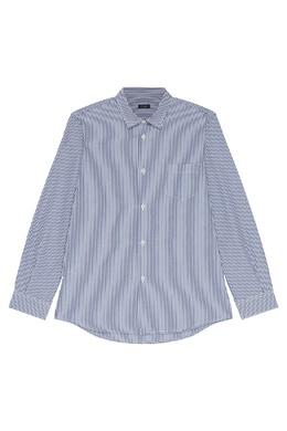 Полосатая хлопковая рубашка Il Gufo 1205170372