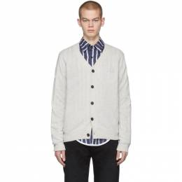 Acne Studios Grey Keve Face Cardigan C60015-
