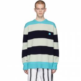 Acne Studios Multicolor Wool Block Stripe Nimah Sweater C60014-
