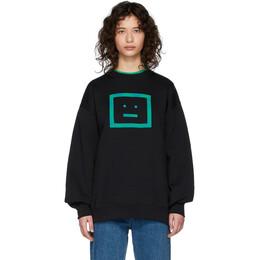 Acne Studios Black Forba Check Face Sweatshirt CI0035-